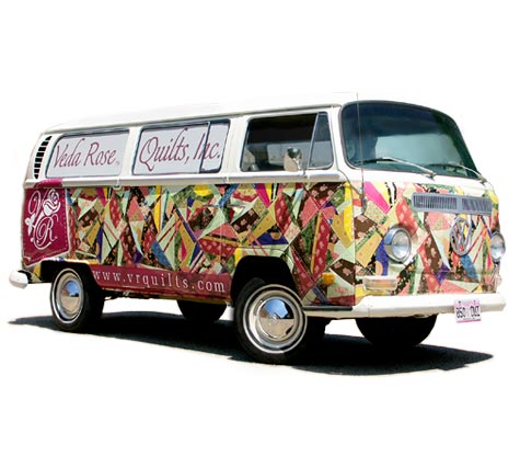 Veda Rose classic VW bus quilt wrap